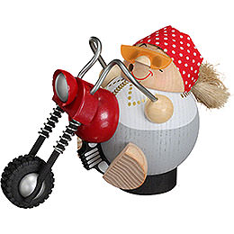 Smoker  -  Biker Chick  -  Ball Figure  -  10cm / 4 inch
