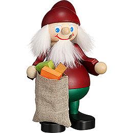 Smoker  -  Christmas Heinzel with Sack  -  15cm / 5.9 inch