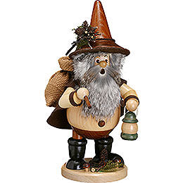 Smoker  -  Forest Gnome Hiker, Natural  -  25cm / 10 inch