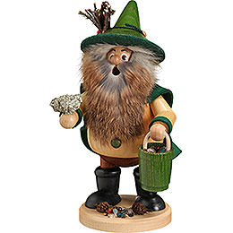 Smoker  -  Forest Gnome Ore Gatherer, Green  -  25cm / 9.8 inch