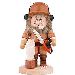Smoker  -  Gnome Power Saw Carver  -  29cm / 11.4 inch