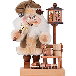 Smoker  -  Gnome Santa on a Bench  -  28,5cm / 11 inch