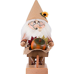 Smoker  -  Gnome with Wheelbarrow  -  32,5cm / 12.8 inch