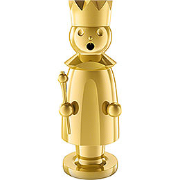 Smoker  -  King  -  Stainless Steel, Gold - Plated  -  15cm / 5.9 inch