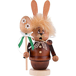Smoker  -  Mini - Gnome Bunny with Stick  -  16cm / 6.3 inch