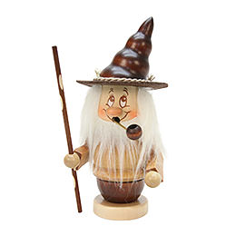 Smoker  -  Mini - Gnome with Stick  -  16,5cm / 6,5 inch
