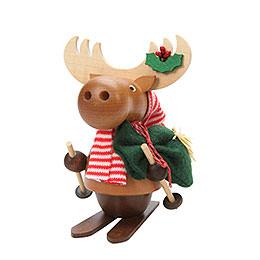Smoker  -  Moose with Ski  -  13,0cm / 5 inch