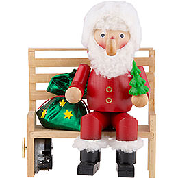 Smoker  -  Mr. Santa on Bench  -  22cm / 8.7 inch