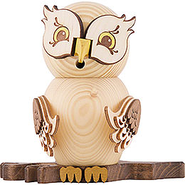 Smoker  -  Owl Natural Wood  -  15cm / 5.9 inch
