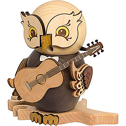 Smoker  -  Owl with Guitar  -  15cm / 5.9 inch