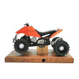 Smoker  -  Quad Orange 22x13 X13cm / 8x5x5 inch