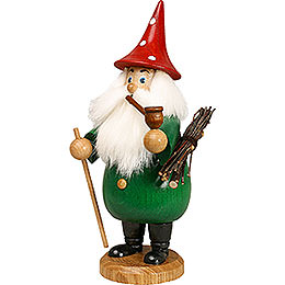 Smoker  -  Rooty - Dwarf Green  -  Hat Red  -  19cm / 7 inch