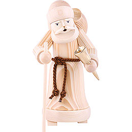 Smoker  -  Santa Claus Natural Wood  -  25cm / 9.8 inch