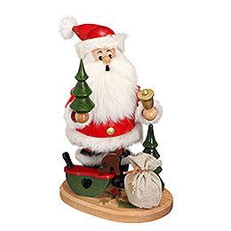 Smoker  -  Santa Claus with Rocking Horse  -  22cm / 9 inch