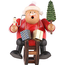 Smoker  -  Santa Claus with Sleigh  -  18cm / 7 inch