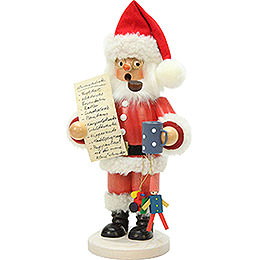 Smoker  -  Santa Claus with Wishlist  -  26cm / 10 inch