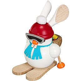 Smoker  -  Ski - Bunny  -  Ball Figure  -  12cm / 5 inch