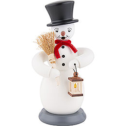 Smoker  -  Snowman  -  Colored  -  23cm / 9 inch
