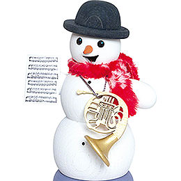 Smoker  -  Snowman with Bugle  -  13cm / 5.1 inch