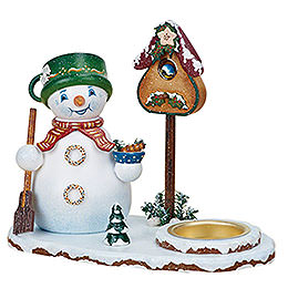 Smoker  -  Snowman with Tea Light 14cm / 5 inch