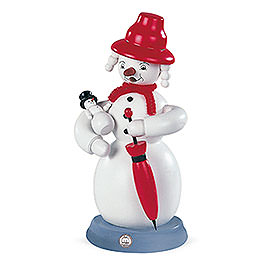 Smoker  -  Snowwoman  -  Colored  -  23cm / 9 inch