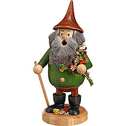 Smoker  -  Timber - Gnome Herb - Gnome Green  -  Hat Brown  -  15cm / 6 inch