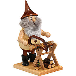 Smoker  -  Timber - Gnome on a Board  -  15cm / 6 inch