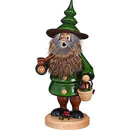 Smoker  -  Tree Gnome Mushroom Collector  -  21cm / 8.3 inch