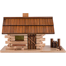 Smoking Hut  -  Forest Hut with LED  -  10cm / 4 inch