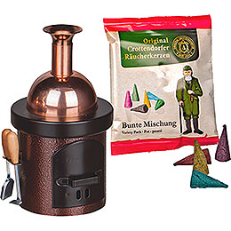 Smoking Stove  -  Brewing Kettle Brown  -  13cm / 5.1 inch