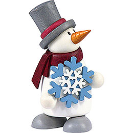 Snow Man Fritz with Snow Flake    -  9cm / 3.5 inch