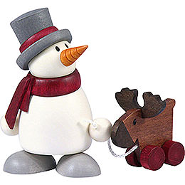 Snow Man Otto with Elk    -  8cm / 3.1 inch