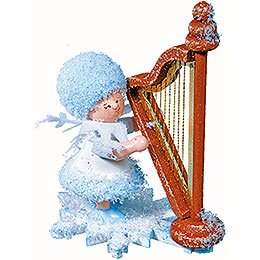 Snowflake with Harp  -  5cm / 2 inch