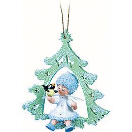 Snowflake with Little Bird  -  12x7x3cm / 4.7x2.8x1.2 inch