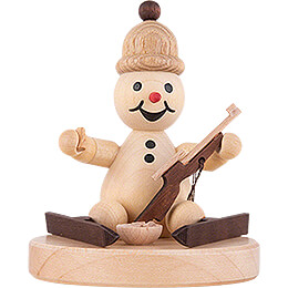 "Snowman  -  Junior ""Biathlon sitting""  -  7cm / 2.8 inch"