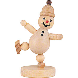 Snowman  -   Junior  Ice Skater on one leg  -  9cm / 3.5 inch