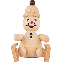 "Snowman  -  Junior ""ice skates"" sitting on edge  -  7cm / 2.8 inch"