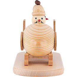 "Snowman  -  Junior ""in a two - man bob"" with cap  -  10,5cm / 4.1 inch"