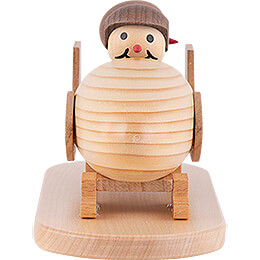 "Snowman  -  Junior ""in a two - man bob"" with helmet  -  10cm / 3.9 inch"