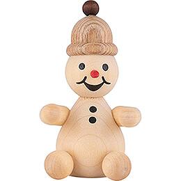 """Snowman  -  Junior """"spectator"""" sitting  -  7cm / 2.8 inch"""