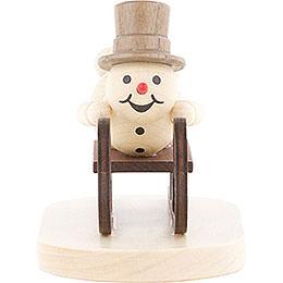 Snowman Luge Athlete  -  9cm / 3.5 inch