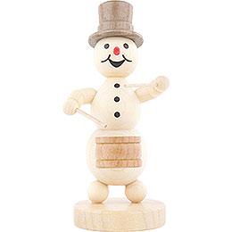 Snowman Musician Drummer  -  12cm / 4.7 inch