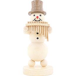 Snowman Musician Panpipes  -  12cm / 4.7 inch