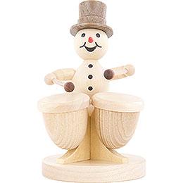 Snowman Musician Timpani  -  12cm / 4.7 inch
