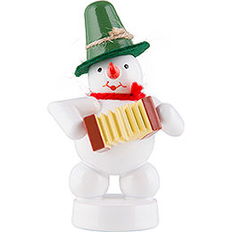 Snowman  -  Musician with Concertina  -  8cm / 3.1 inch