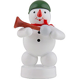 Snowman Musician with Horn  -  8cm / 3 inch