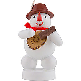 Snowman Musician with Mandolin  -  8cm / 3 inch