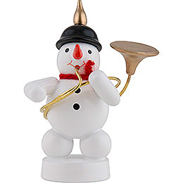 Snowman Musician with Sousaphone  -  8cm / 3 inch