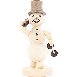 Snowman Ski on Shoulder  -  13cm / 5.1 inch