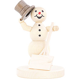 Snowman with Shovel  -  12cm / 4.7 inch